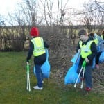 Great to see so many of our children taking part in litter picking!
